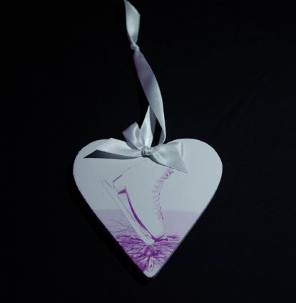 Hanging heart decoration - 3 colour options